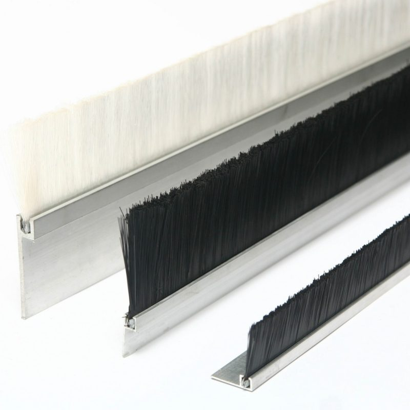 strip brush with aluminium bracket